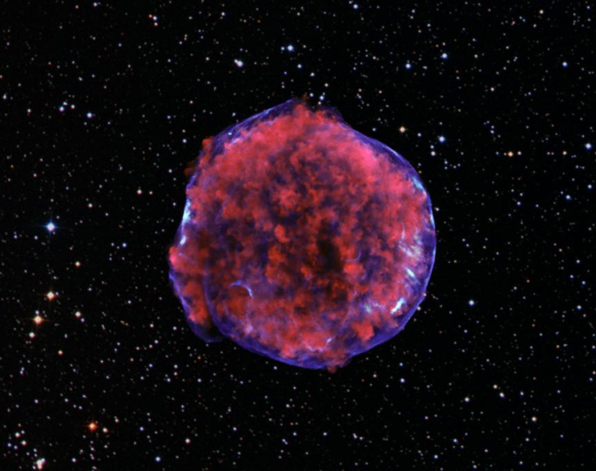Рентгеновское изображение остатка вспышки Сверхновой Тихо (SN 1572)